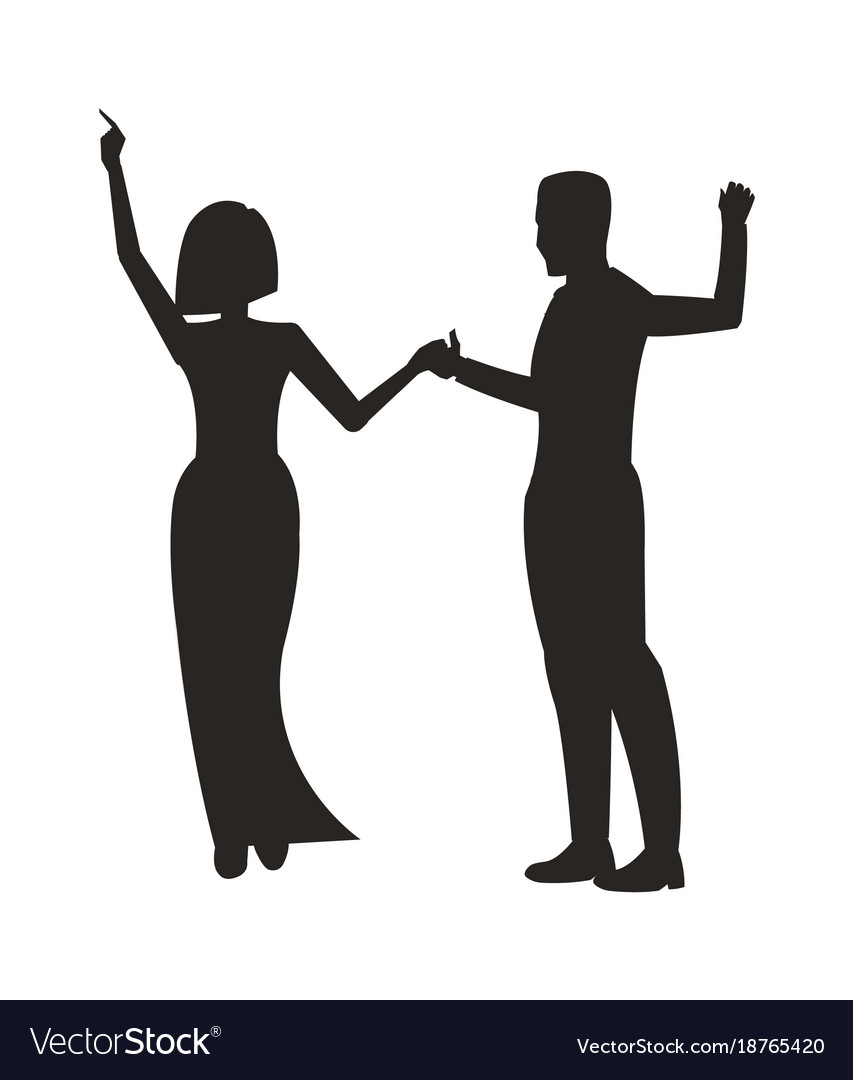 Couple dancing at party on