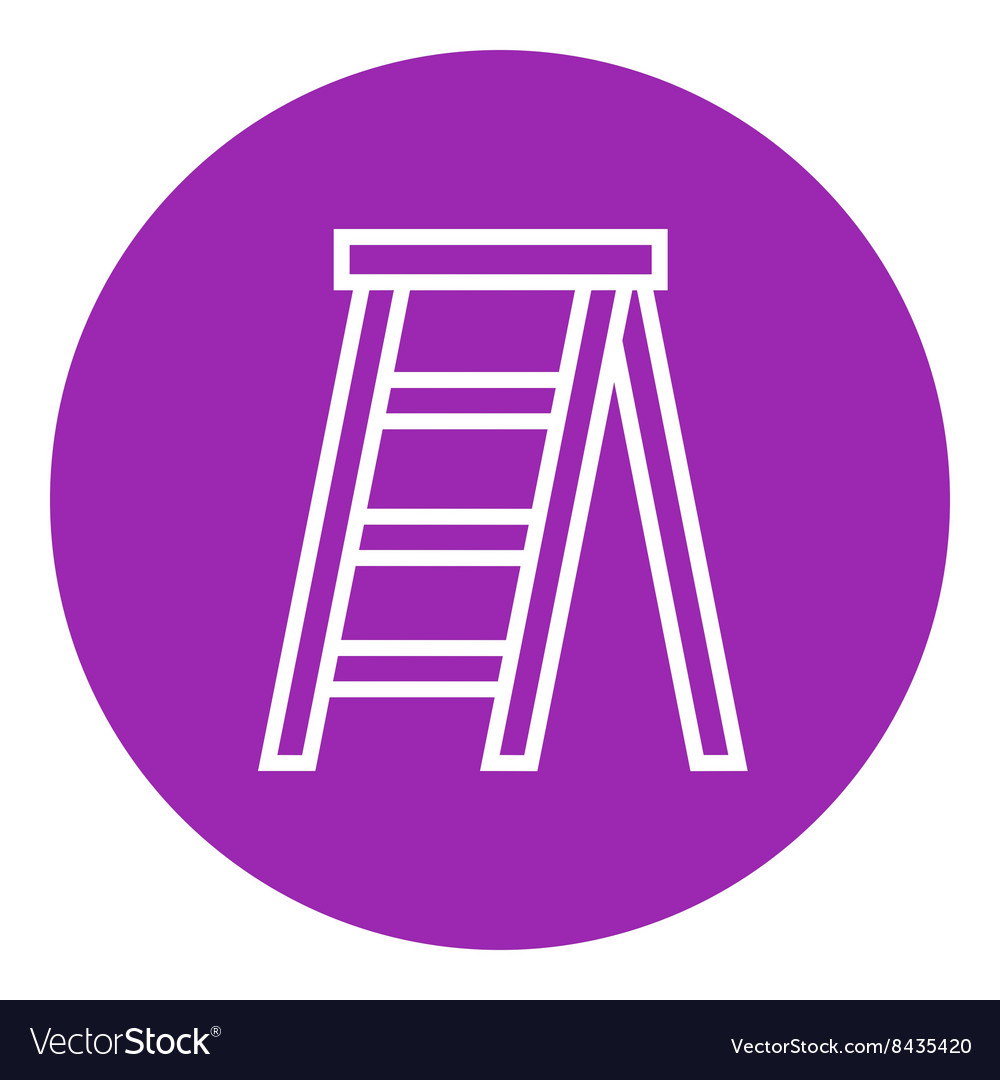 Stepladder line icon