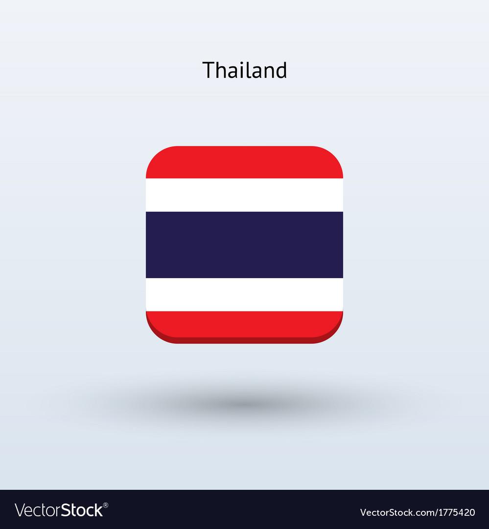 Thailand flag icon vector image