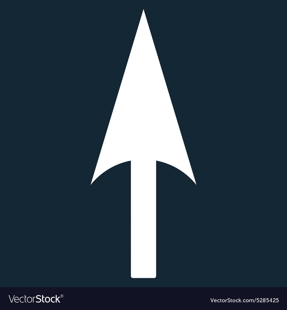 Arrow Axis Y flat white color icon