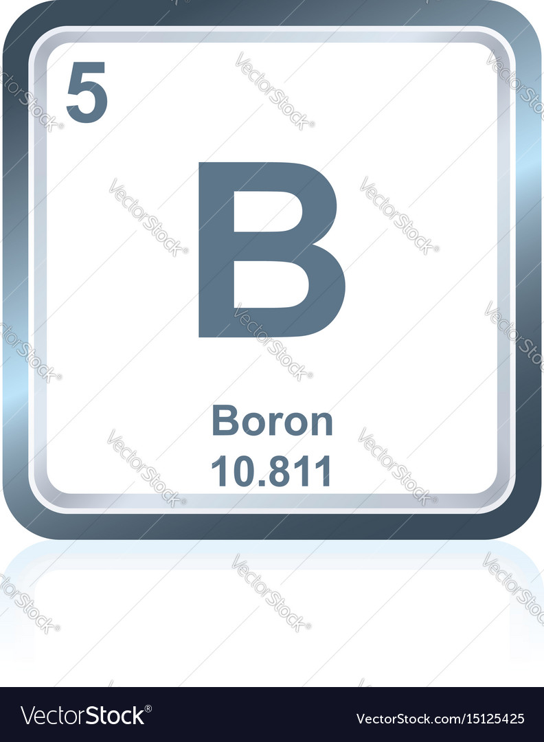 Chemical Element Boron From The Periodic Table Vector Image