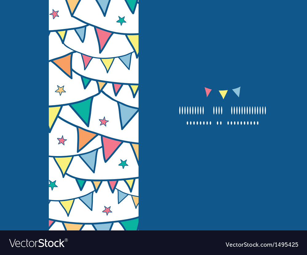 Colorful doodle bunting flags horizontal seamless