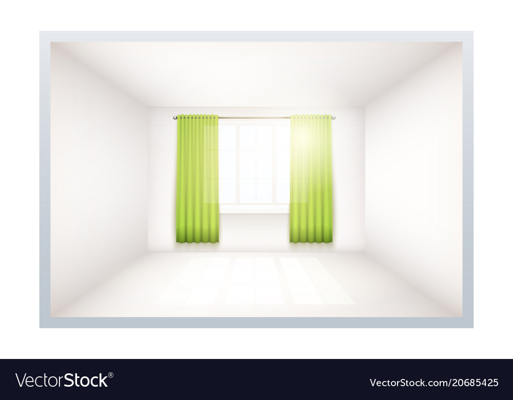 Example of empty room with window