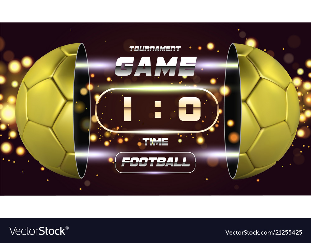 Football banner poster or flyer design with 3d