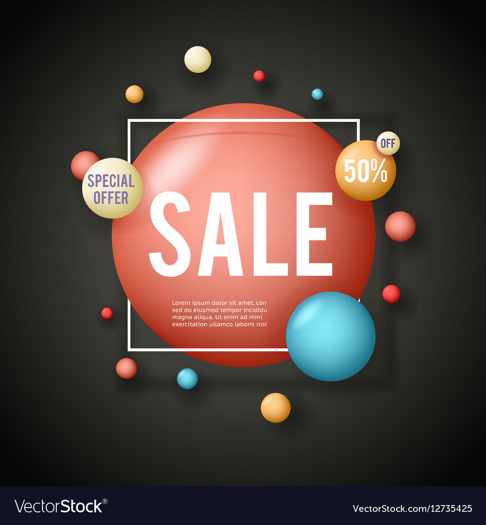 Sale advertising banner layout special big offer