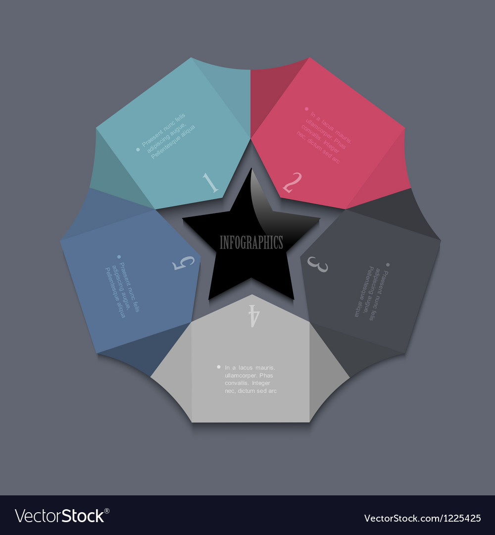 Stylized star design template for infographics