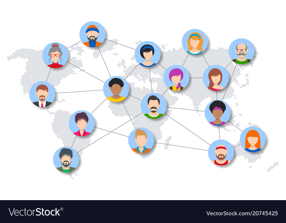 World people network diagram