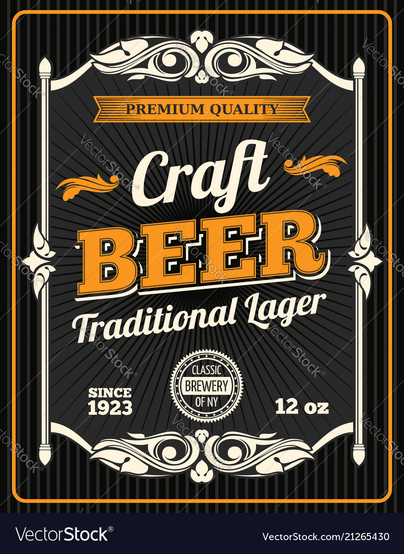Craft beer premium quality poster