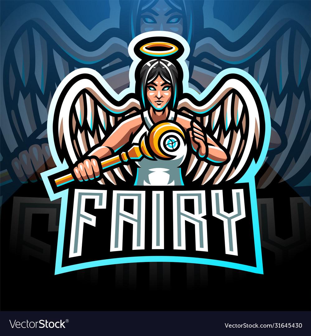 Fairy esport mascot logo design