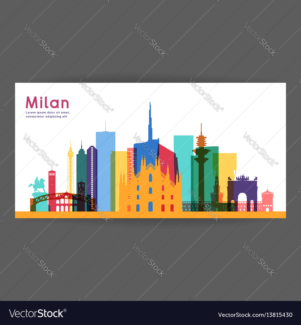Milan colorful architecture