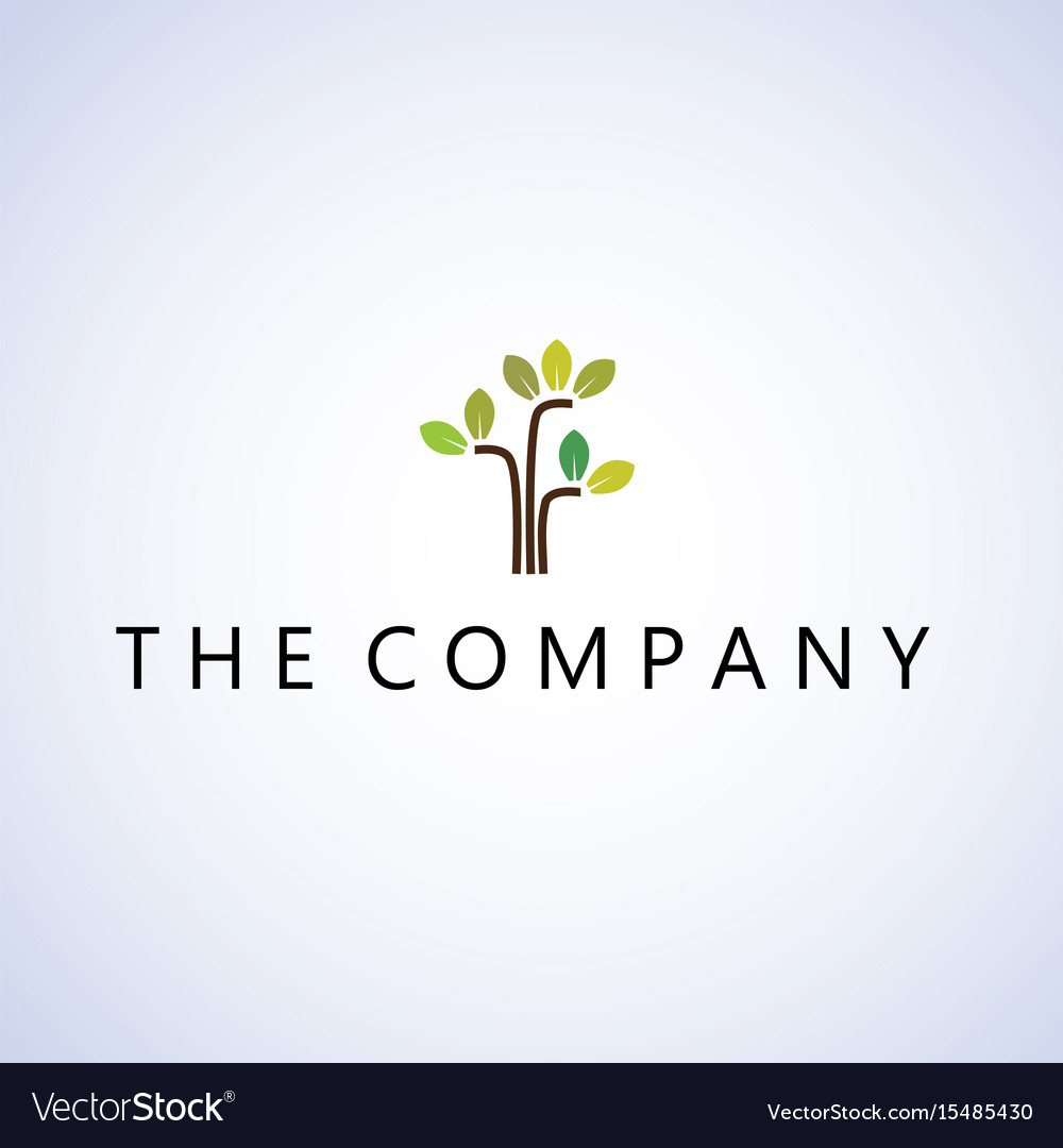 Tree Logo Ideas Design On Background Royalty Free Vector