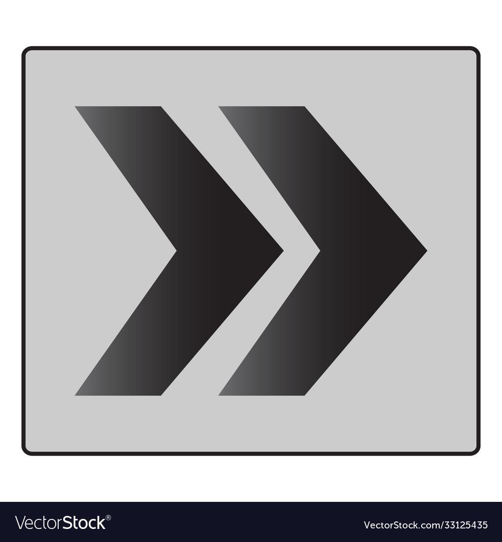 Chevron roundabout directional