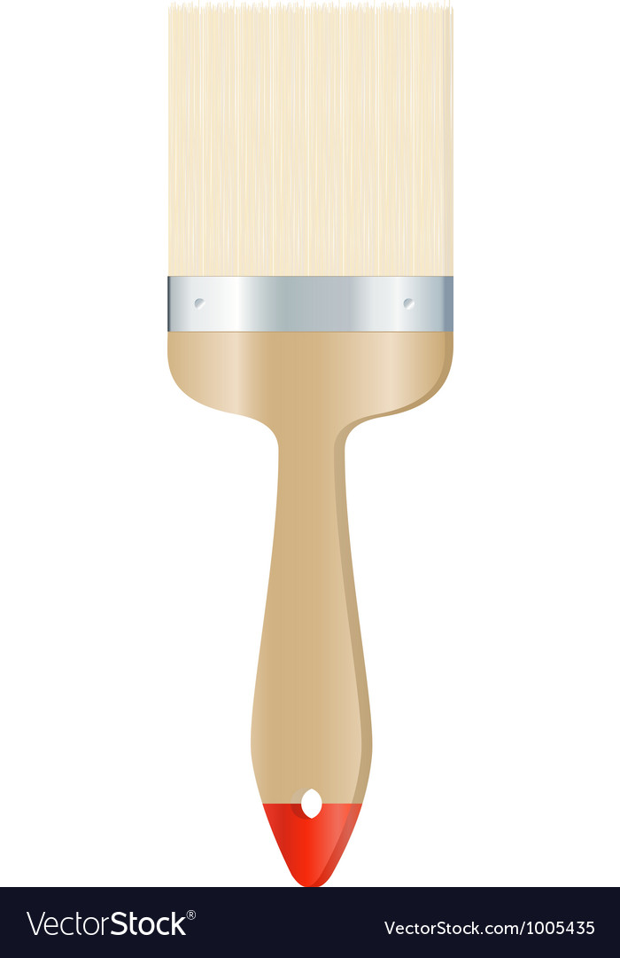 Clear brush on white background vector image