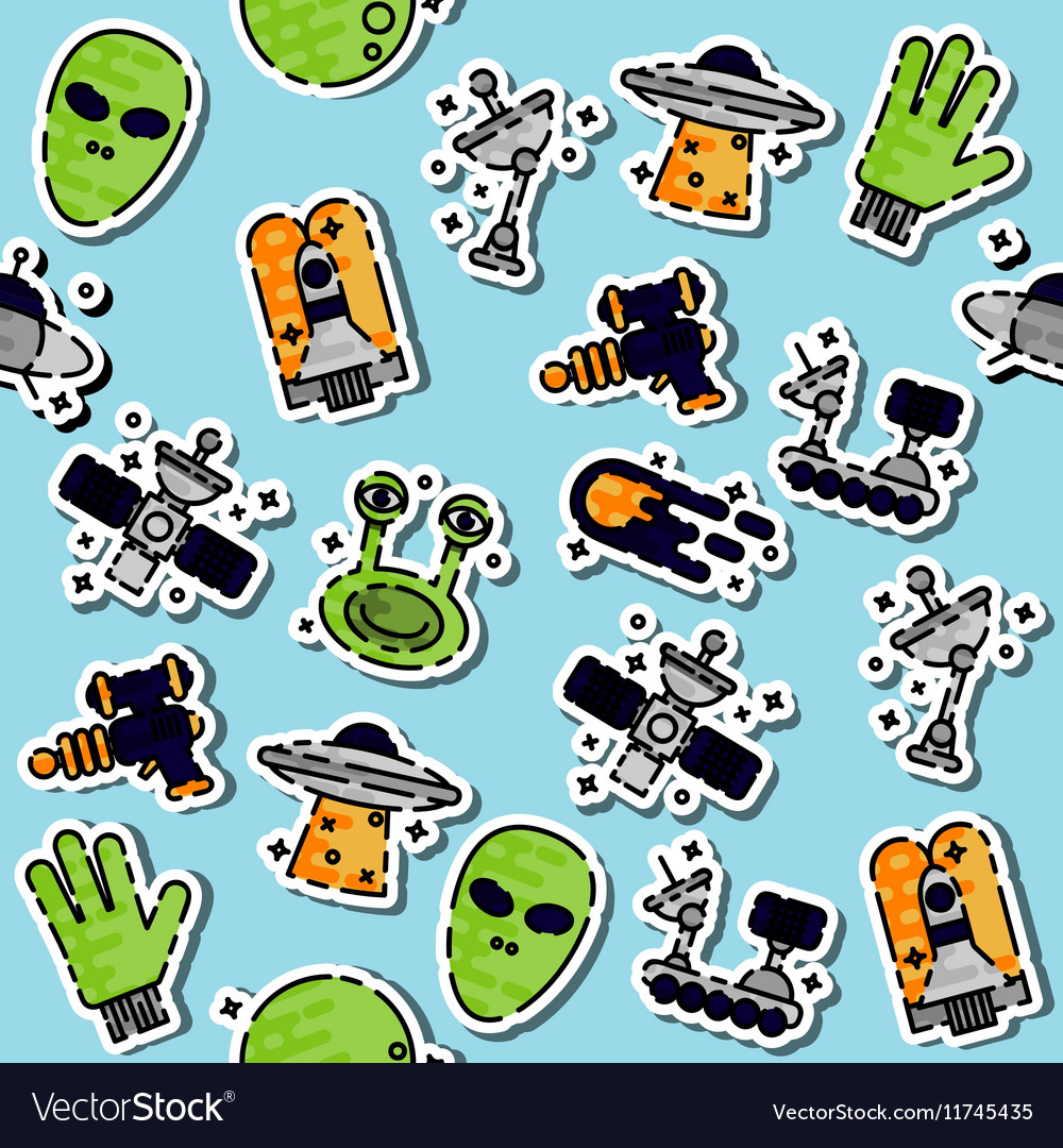 Colored UFO pattern