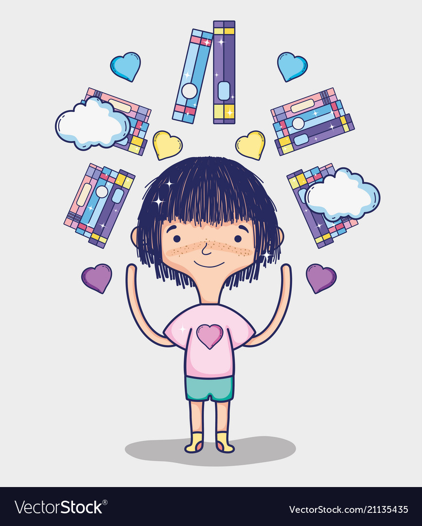cute girls cartoons royalty free vector image - vectorstock