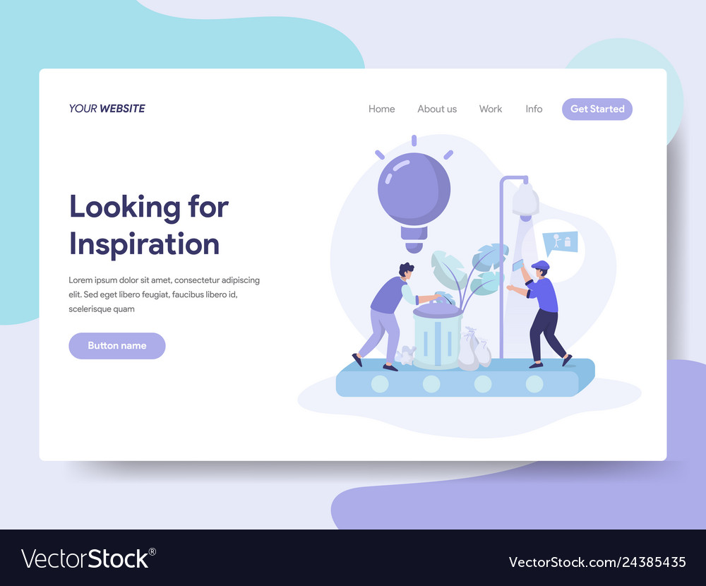 Landing page template of looking for ideas