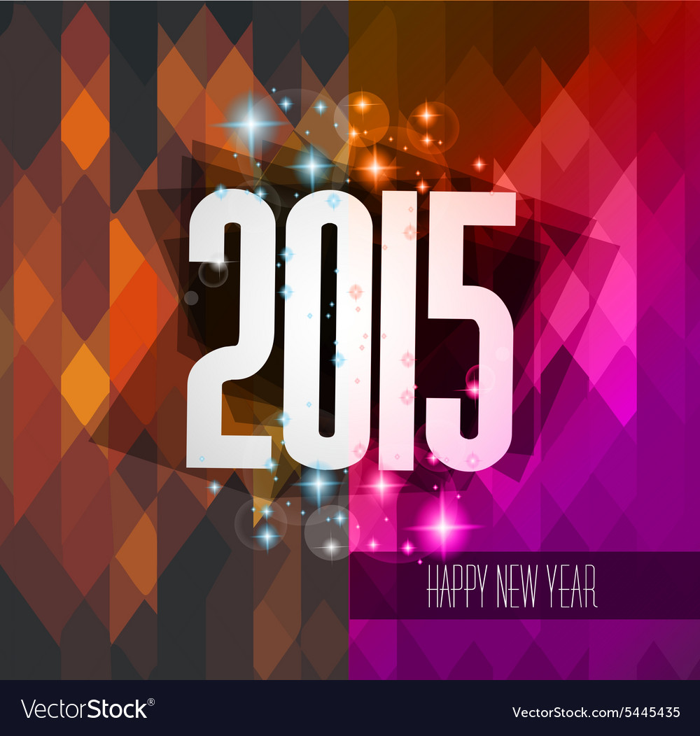 original 2015 happy new year hipster background vector image