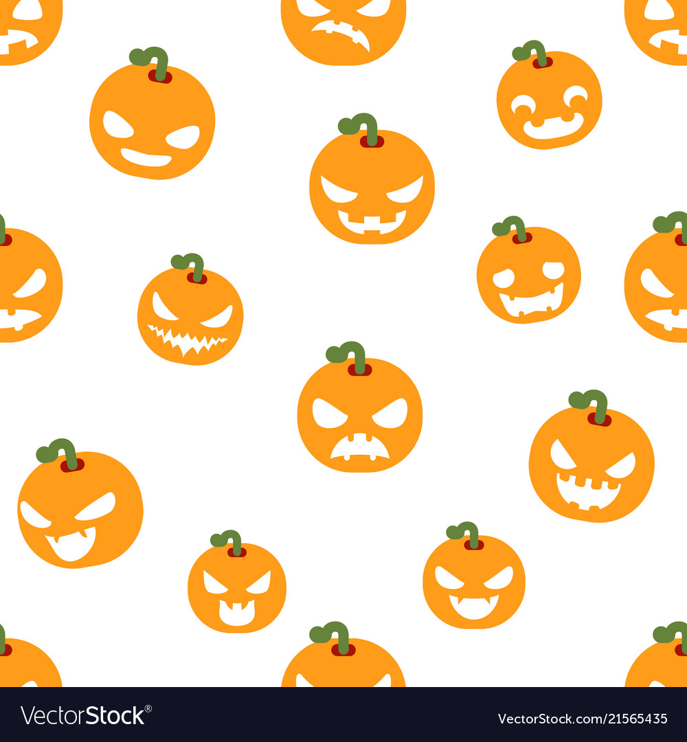 Seamless halloween party pumpkin decoration scary