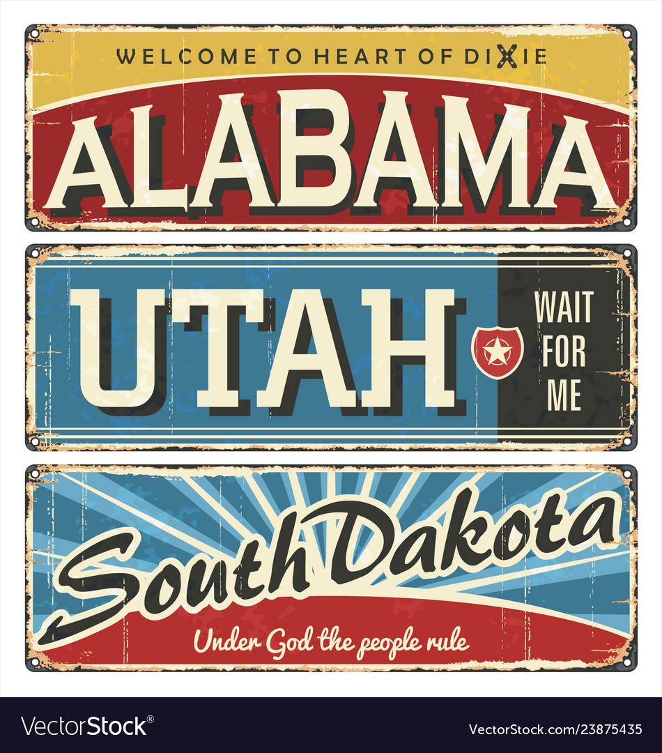 Vintage tin sign collection with us