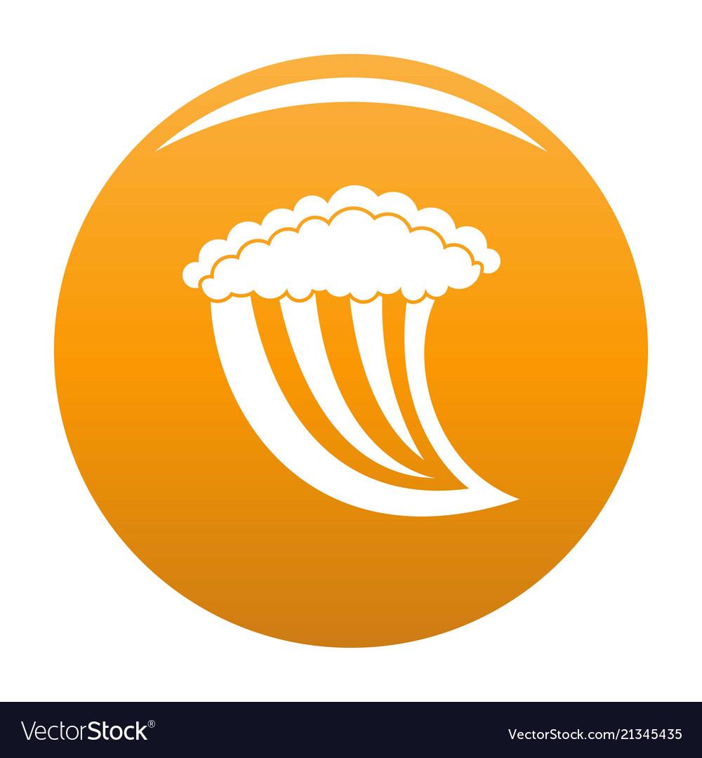 Wave water icon orange