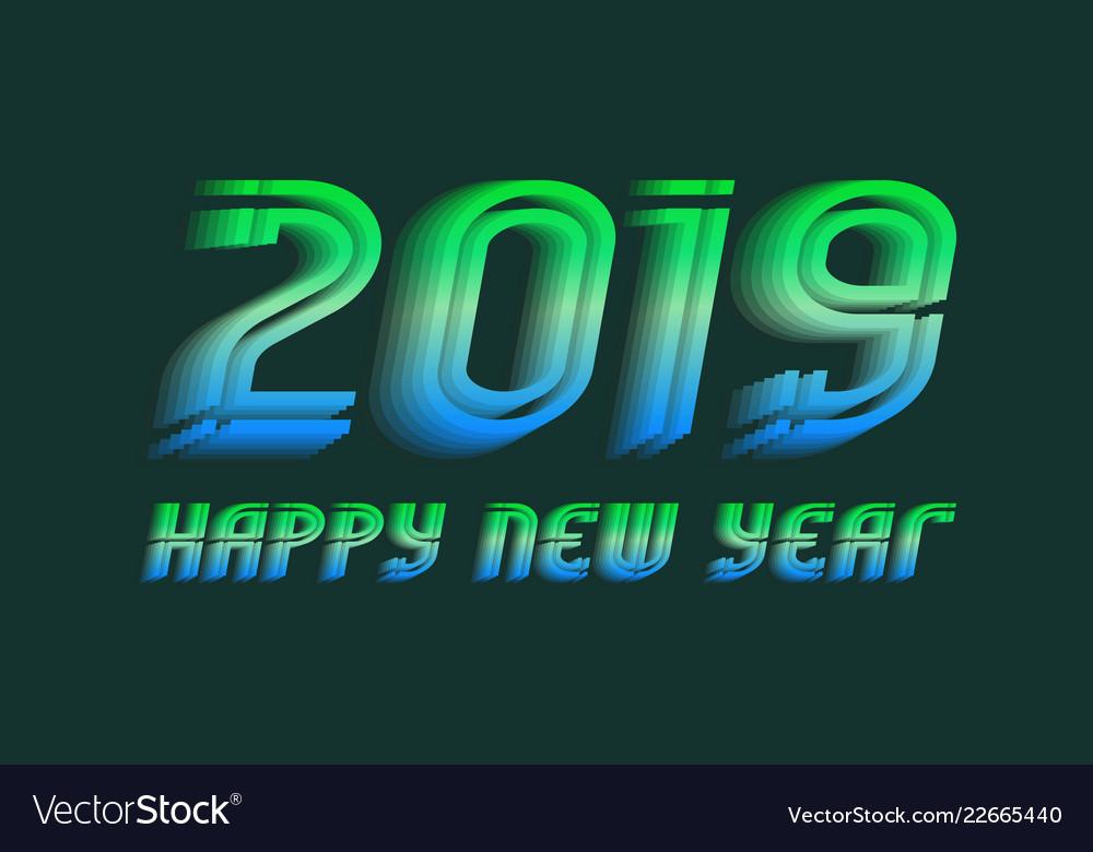 2019 happy new year congratulation design