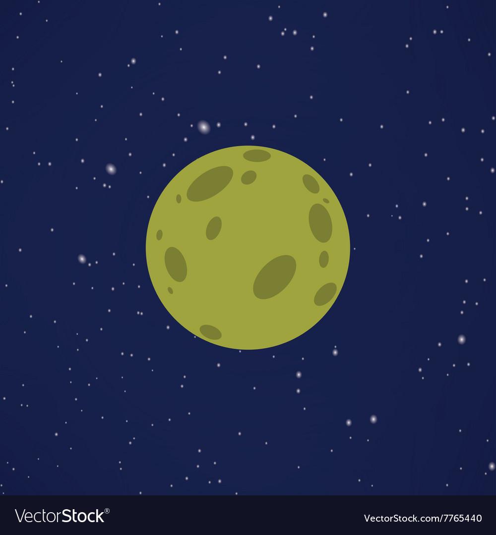 Abstract Cartoon planet