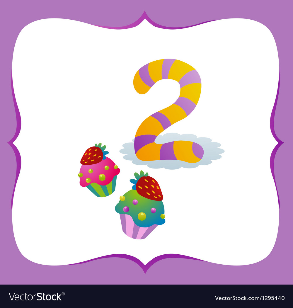 Collection Sweet Numbers for Kids 2 vector image