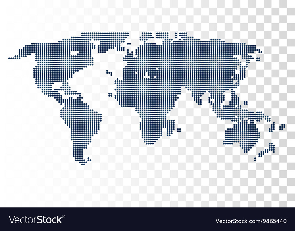Halftone world map continents for your royalty free vector halftone world map continents for your vector image gumiabroncs Image collections