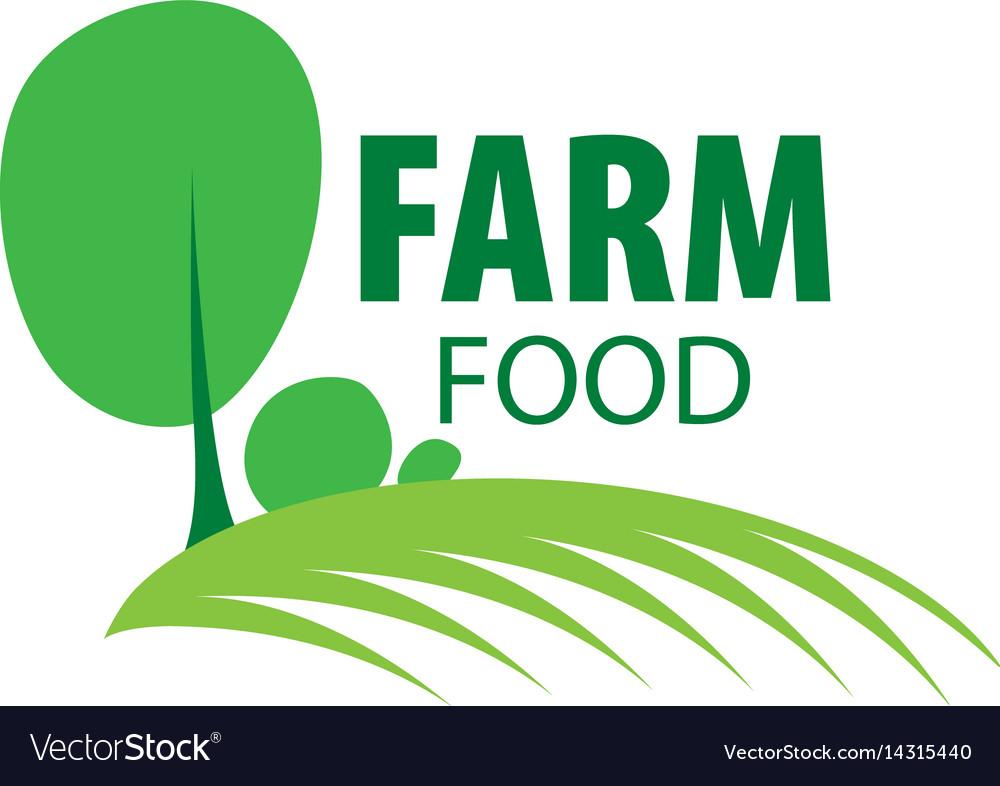 Logo farm food vector image