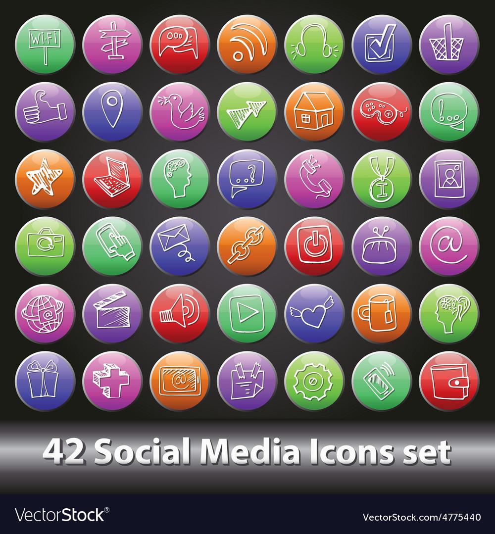 Social Media Icons setRound volume button