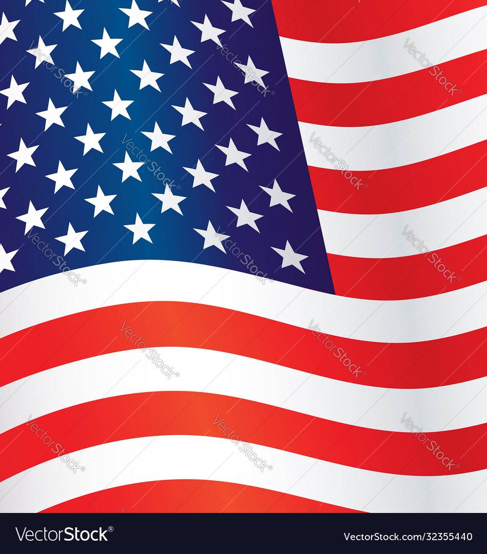 Usa flag flying waving background