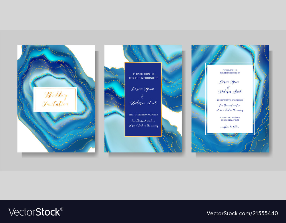 Wedding fashion geode or marble template cover