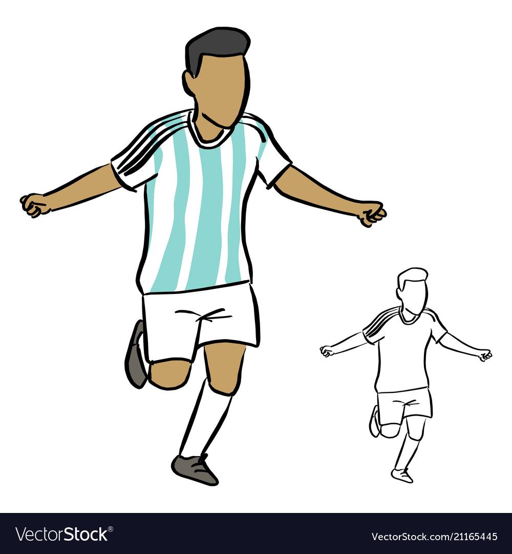 Argentina soccer player sketch