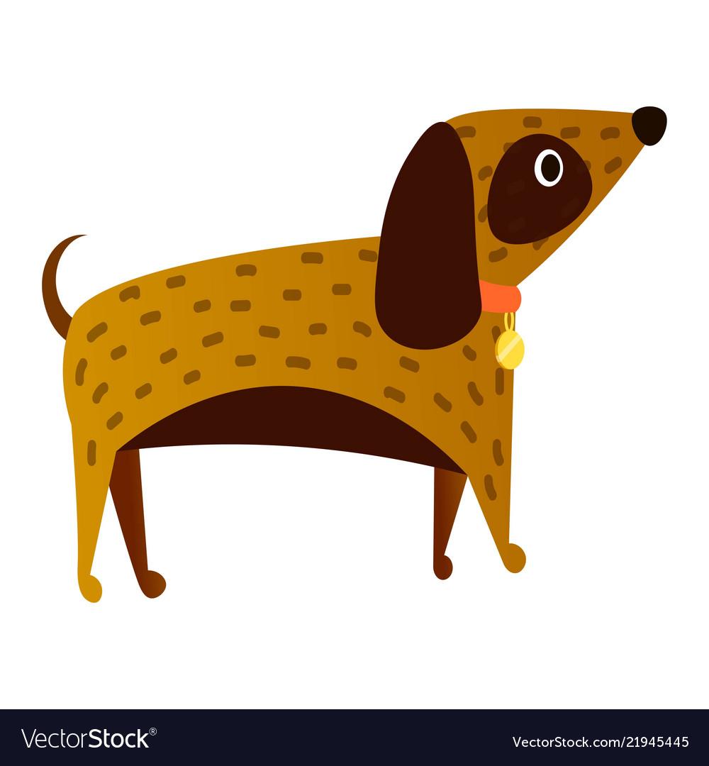 Cute dog cartoon isolated on white background