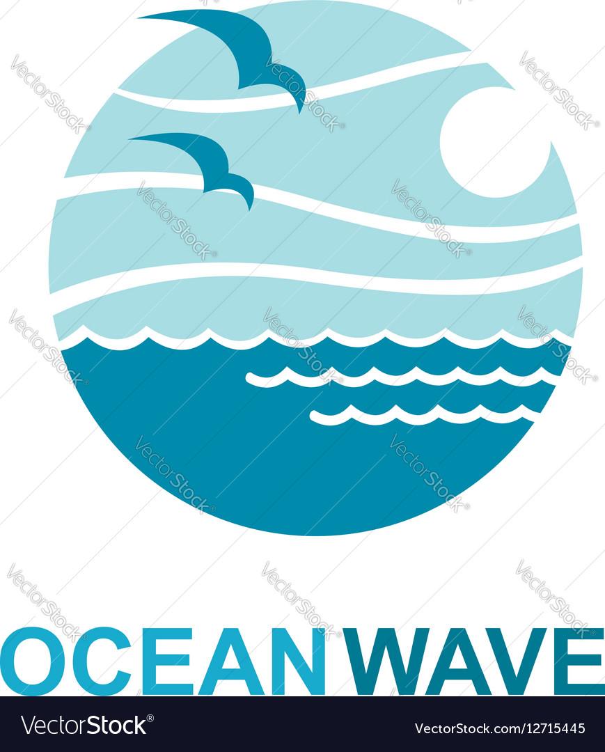 ocean logo design royalty free vector image vectorstock rh vectorstock com ocean login ocean logistics