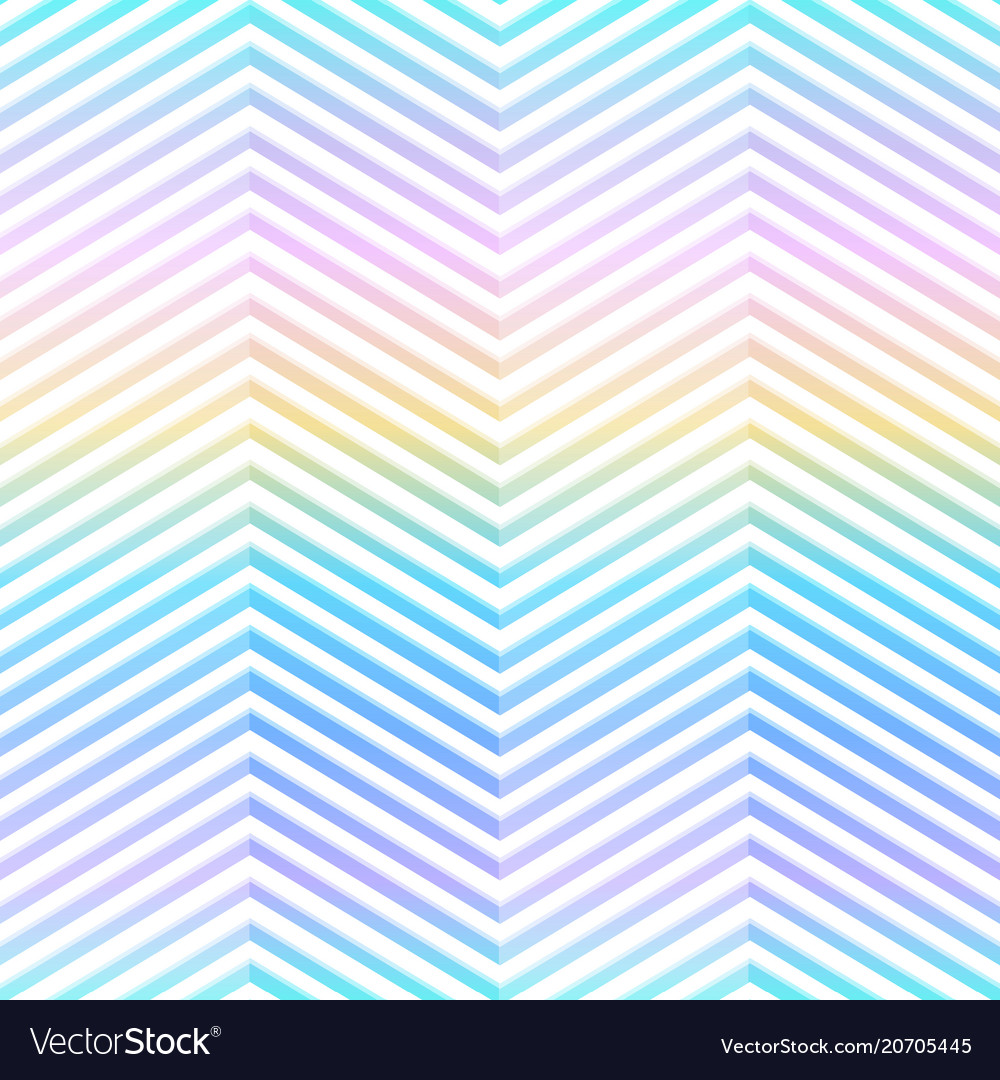 Rainbow zigzag seamless pattern
