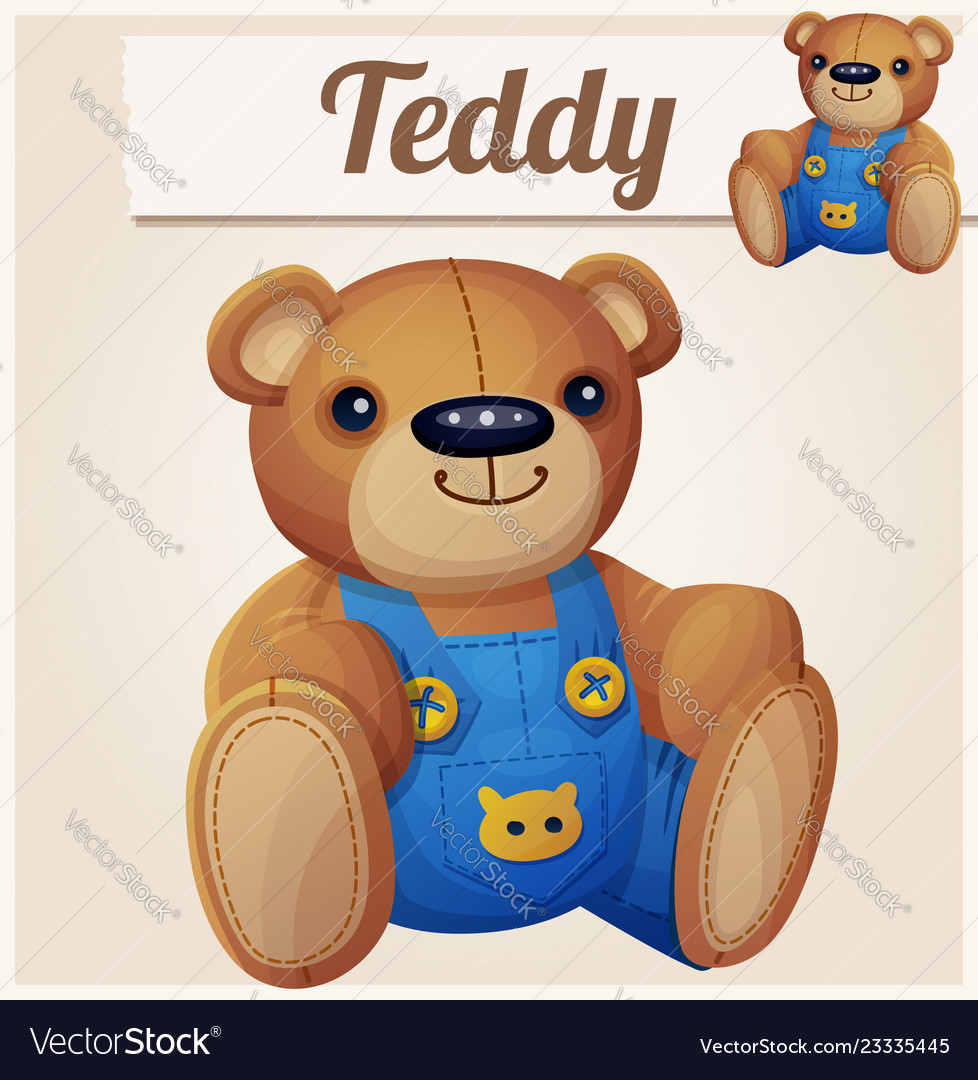 Teddy bear in overalls