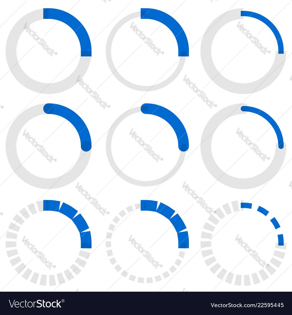 Transparent progress indicators preloaders phase
