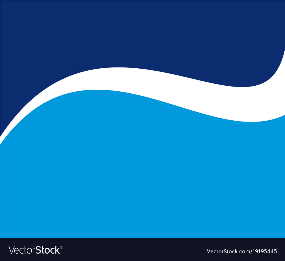 Wave square logo vector image
