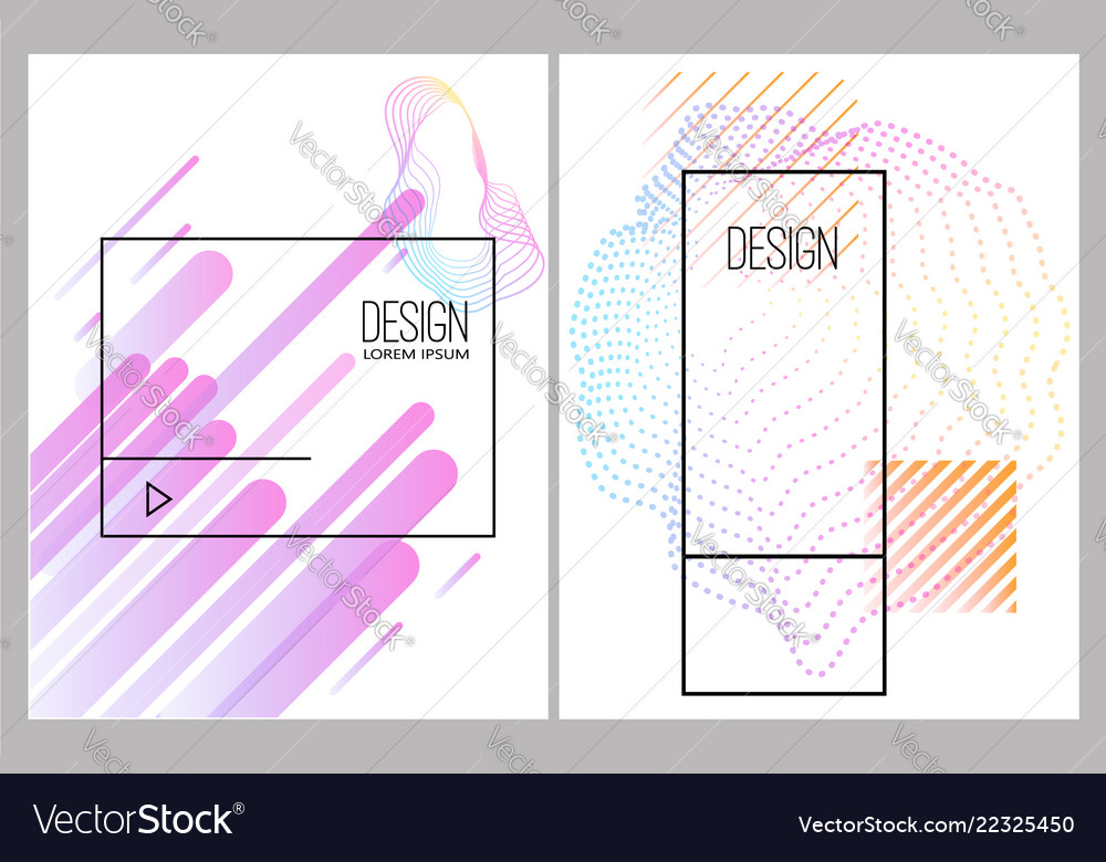 Banner design templates with abstract vibrant