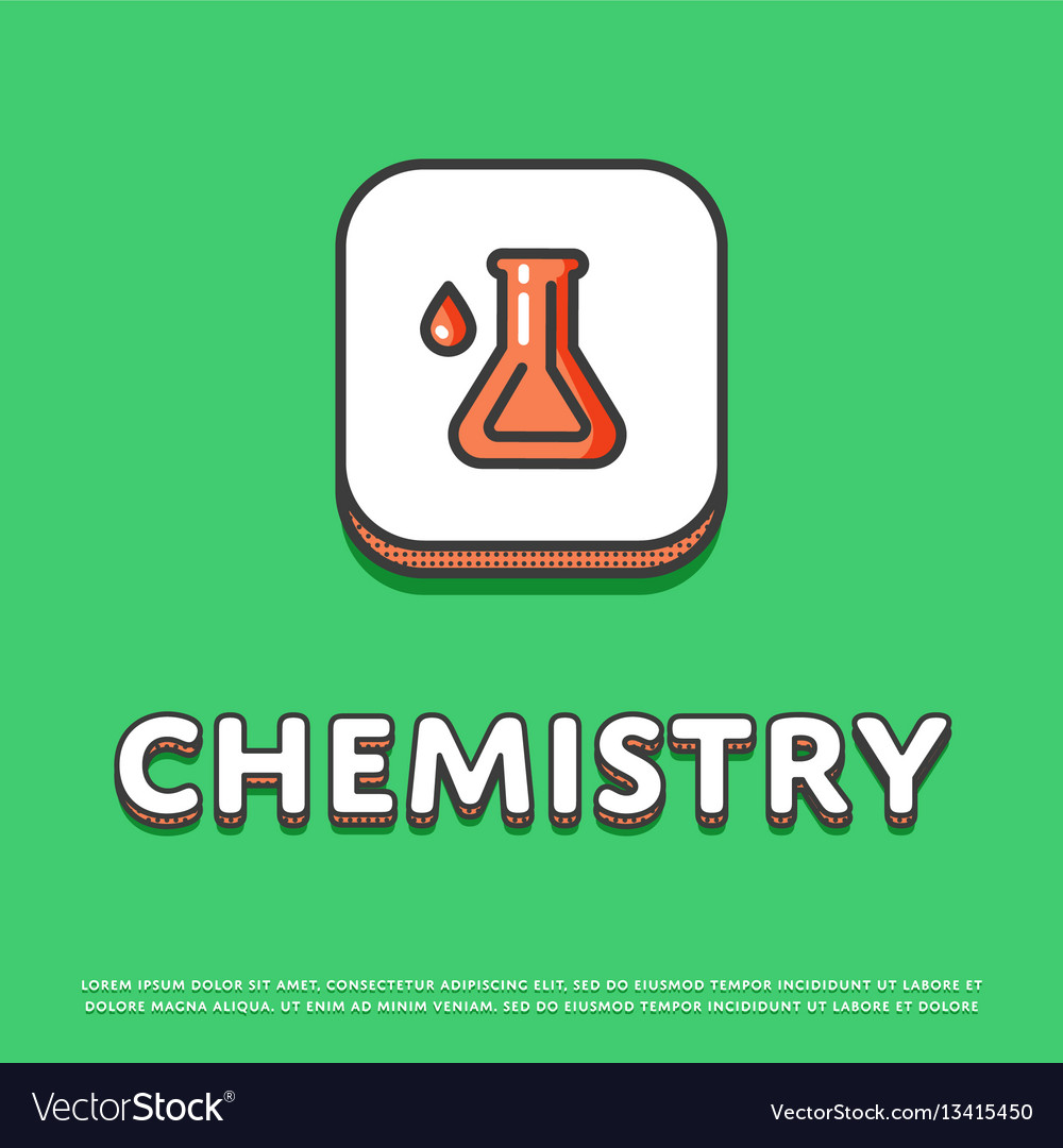 Chemistry icon with test tube