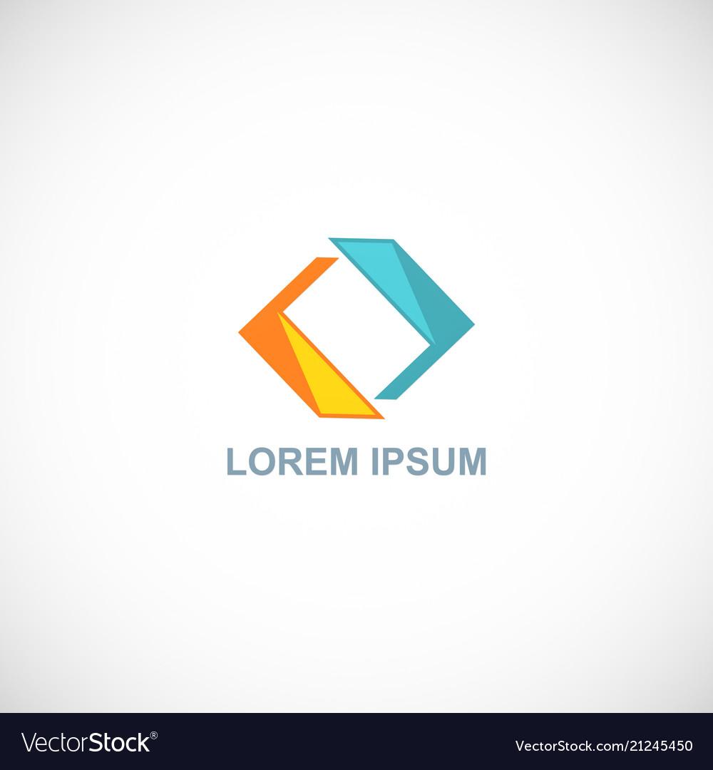 Circle shape color logo