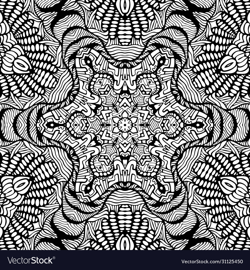 Coloring page abstract mandala with decorative