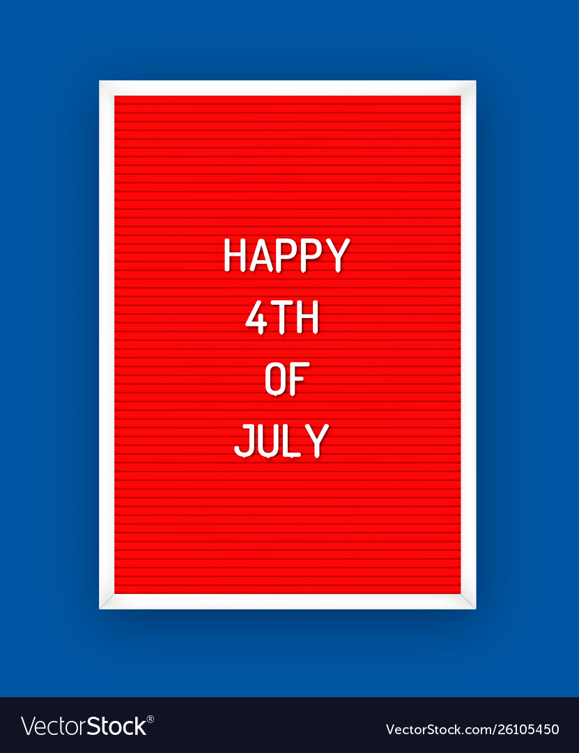Happy usa independence day letterboard greeting