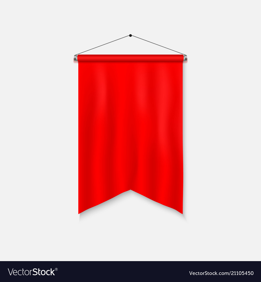 Realistic pennant template vector image