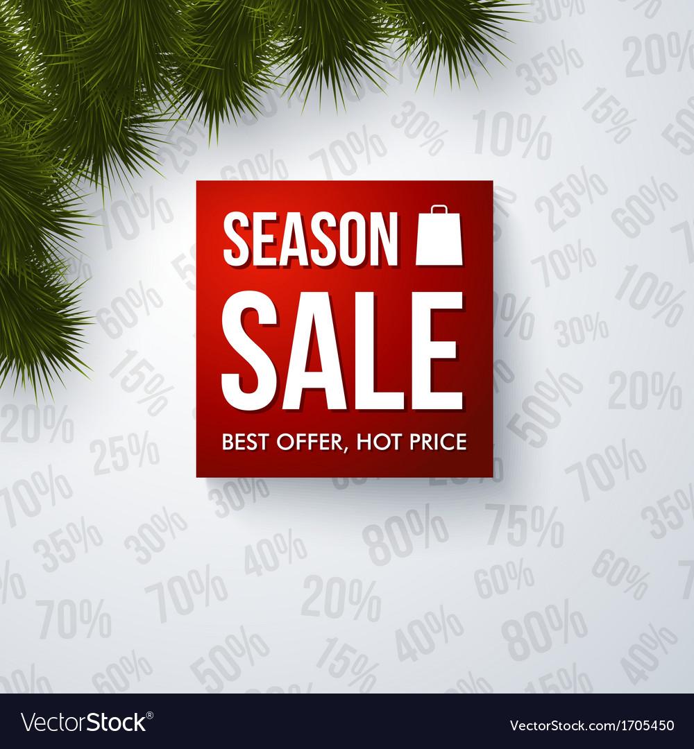 Season sale design template