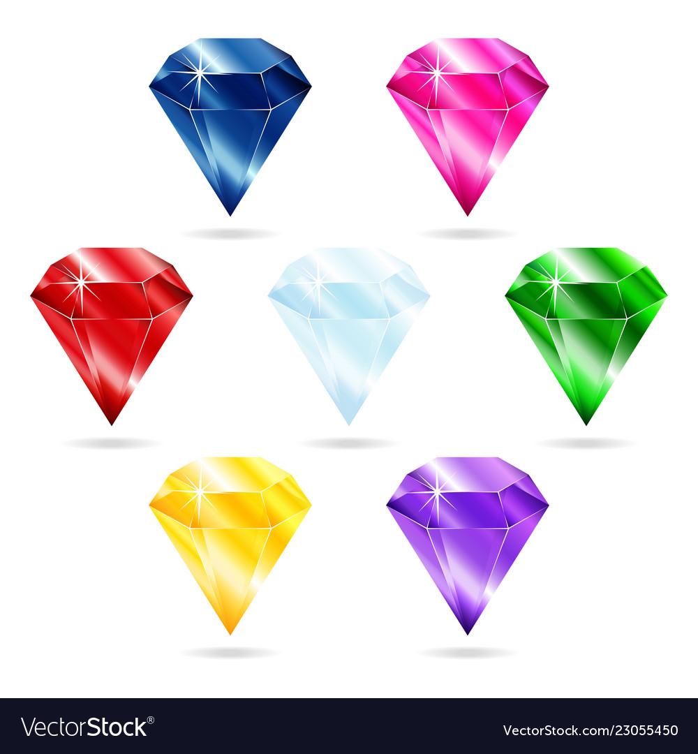 Set of seven gems