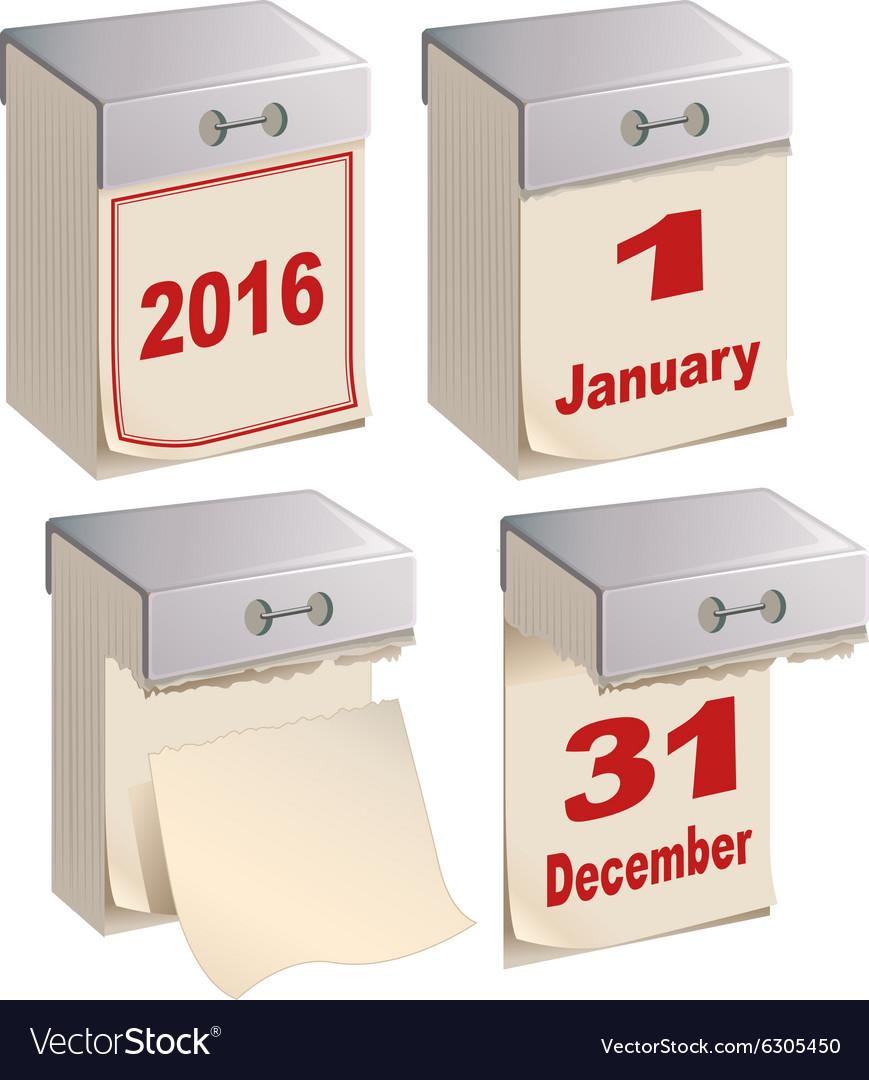 tear off calendar template