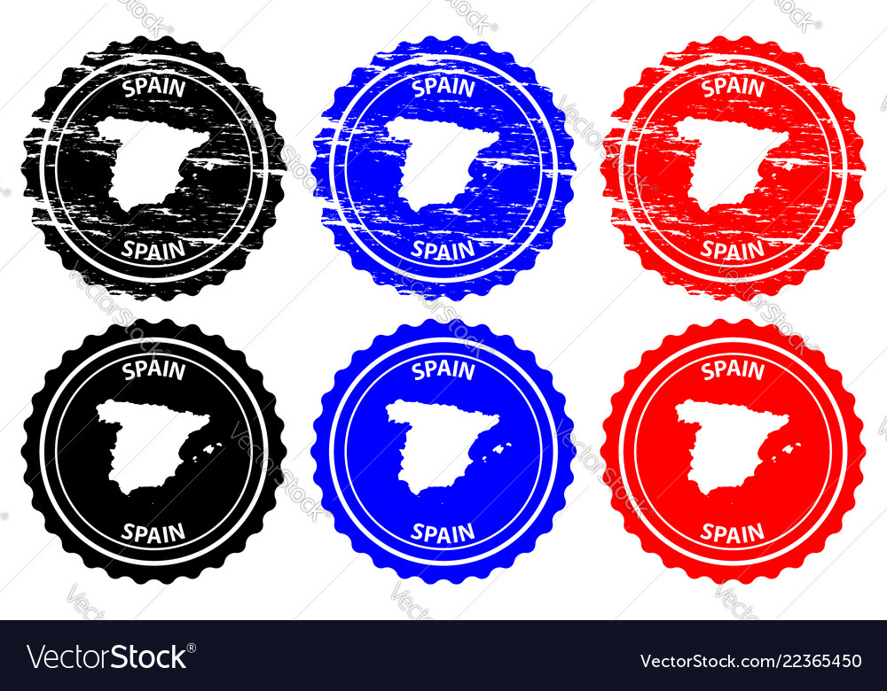 Spain Rubber Stamp Vector Image