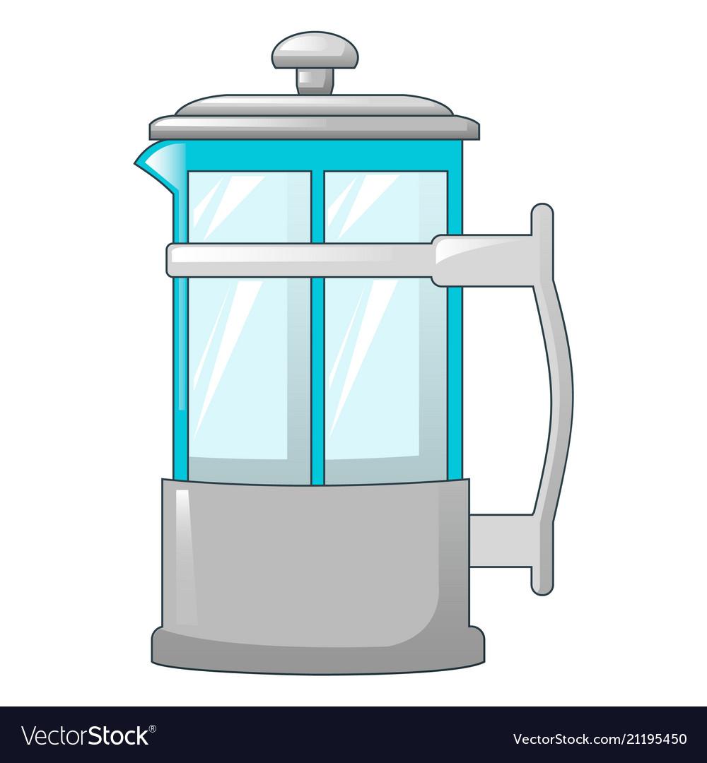 Transparent tea pot icon cartoon style